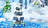 My Fairy Gardens Christmas Miniature - Snow Fairies Fountain And Snowflakes -.