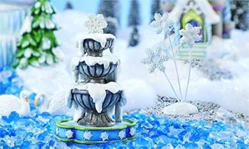 My Fairy Gardens Christmas Miniature - Snow Fairies Fountain And Snowflakes -. by New Miniature