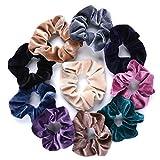 Hair Ropes,Aniwon 10Pcs Velvet Traceless Elastic Scrunchies Bobbles Hair Ties