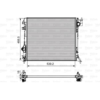 VALEO Engine Cooling Radiator 735625 Fits NISSAN Qashqai Suv 2013-