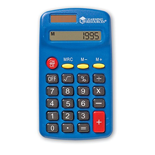 LEARNING RESOURCES PRIMARY CALCULATOR SET OF 10 (Set of 3) Learning Resources Primary Calculator