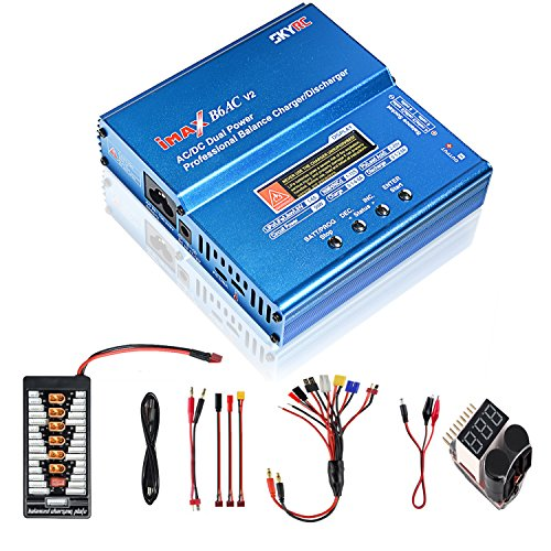 COOLWAS Genuine SKYRC iMAX B6AC V2 AC/DC Dual Power Professional LiPo Battery Balance Charger/Discharger for LiPo,LiHV,LiIon,Life,NiCd,NiMH,Pb (with Parallel Charging Board)