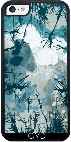 Coque Silicone pour Iphone 5C - Arbre Abstrait Bleu by les caprices de filles