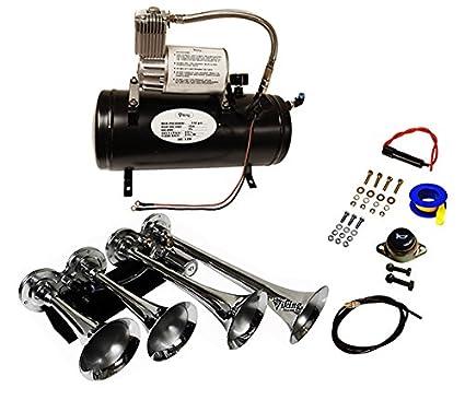51ZKD9mAfzL._SX425_ amazon com viking horns v3305 003a loud 149 decibels 4 trumpet