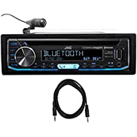 JVC KD-RD99BTS Car Bluetooth CD Receiver, USB/Pandora/iPhone/SiriusXM+AUX Cable