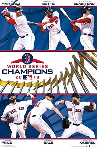 (Red Sox Boston World Champions 2018 Poster 22 x 34 )