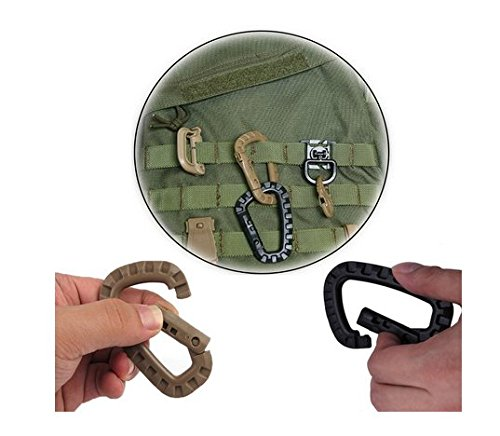 Carabiner Tactical 9pcs Enforcement Polymer Light Weight D ring Hanging Hook 9 pack