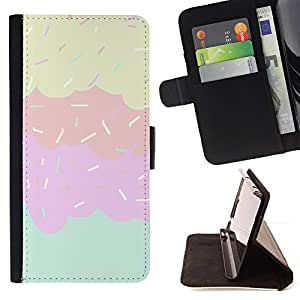 Jordan Colourful Shop - Sprinkles Ice Cream Sweet Kids Pink For Apple Iphone 5C - Leather Case Absorci???¡¯???€????€????????&ce