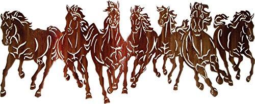 Thirstystone Thunderstorm 'Running Horses' Wall Art, 40-Inch (Sculpture Metal Horse)