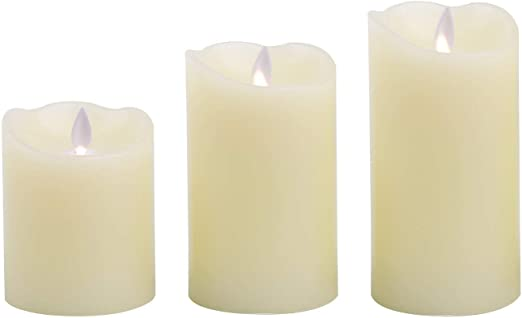 LEDKIA LIGHTING Pack de 3 Velas LED Cera Natural Special Flame: Amazon.es: Iluminación