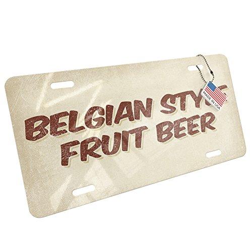NEONBLOND Metal License Plate Belgian Style Fruit Beer, Vintage style