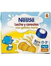 NESTLÉ Leche y Cereales galleta - Alimento Para bebés - Paquete de 2 unidades de 250ml