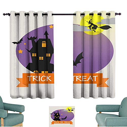 (Warm Family Fashion Curtain Halloween Background with Lovely Costumes Suitable for Bedroom Living Room Study,)