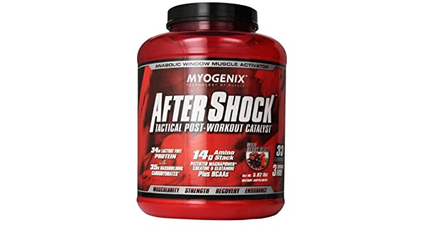 Amazon.com: AFTERSHOCK WILDBERRY BLAST, 5.82LB by Myogenix: Health & Personal Care