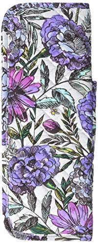 51ZKF sWoPL - Vera Bradley Iconic Curling & Flat Iron Cover, Signature Cotton, Lavender Meadow
