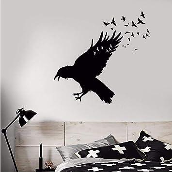 Vinilo tatuajes de pared negro cuervo bandada de pájaros ...