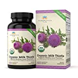 USDA Certified Organic Milk Thistle | Non GMO 2000mg 4X Concentrated Vegan Daily Supplement w/Silymarin Seed Extract for Liver Support, Detox and Cleanse – 60 Veggie Capsules Review