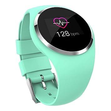 YWHY Relojes Mujer Fitness Reloj Inteligente Mujeres Corriendo Monitor De Ritmo Cardíaco Bluetooth Podómetro Táctil Inteligente, C: Amazon.es: Deportes y ...