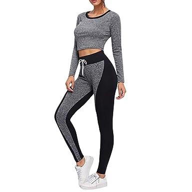 Mujer Conjuntos de Traje Casual Chándal de Yoga Deporte Fitness ...