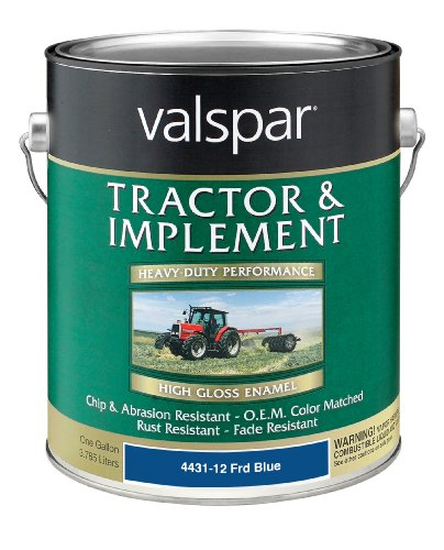 Blue Paint Heavy Duty - Valspar 4431-12 Ford Blue Tractor and Implement Paint - 1 Gallon