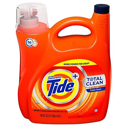 Tide Total Clean Ultra Concentrated Liquid Laundry Detergent, Fresh Linen (88 loads,150 fl oz.) Tide Total Clean Ultra Concentrated Liquid Laundry Detergent, Fresh Linen (88 loads,150 fl oz.) - Tide Total Care