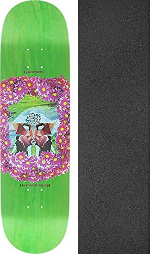宴会誰の飲み込むLovesick Skateboards Justin Strubing花スケートボードデッキ – 8.38