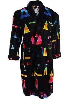 Mens Brighton 100% Egyptian Cotton Plush Shawl Collar Luxury Bathrobe Black 7ec7bbd18
