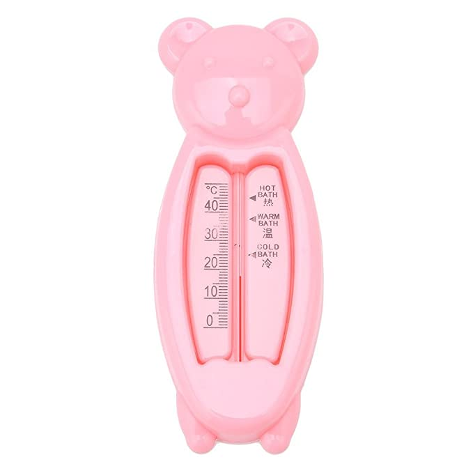 the Baby Bath Floating Duck Toy and Bath Tub Thermometer Yingwei Pink Bear meter