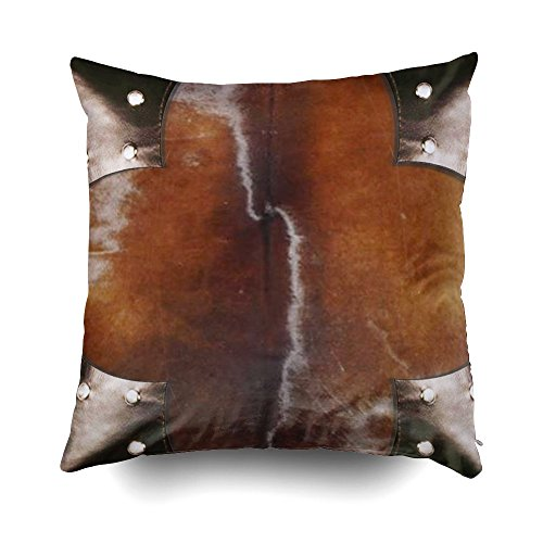 Musesh Leather Faux Simulated Western Cowhide Style 103 Cushions Case Throw Pillow Cover for Sofa Home Decorative Pillowslip Gift Ideas Household Pillowcase Zippered Pillow Covers (Simulated Leather Living Room)