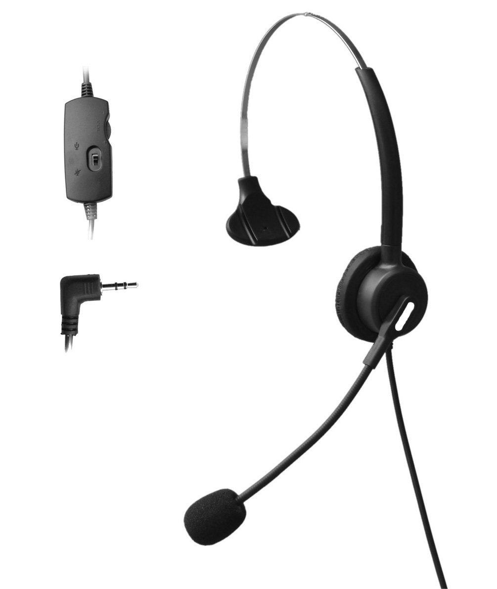 Comdio 2.5mm Call Center Telephone Headset Headphone with Mic + Volume Mute Controls for Cisco Linksys SPA SPA921 SPA922 SPA941 SPA942 SPA962 303 501G 502G 504G 508G 509G 525G IP Phones (H103VP1)