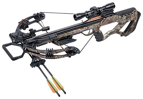 CenterPoint Tormentor Whisper 380 Camo- Crossbow Package (Best Crossbow For Whitetail Deer Hunting)