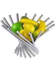 Landtom® Creative Stainless Steel Rotation Fruit Bowl/Fruit Basket/Fruit Stand/Fruit Holder with Free Orange Peeler