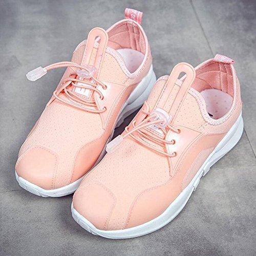 negro de Zapatos Rosado para atléticos ligeros GAOLIXIA tela rosa aire libre blanco casuales usables deporte mujer zapatillas Zapatos elástica zapatos al cómodas transpirable 77UrwB5q