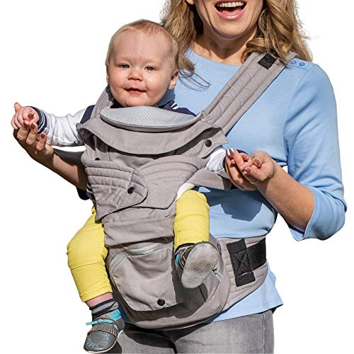Mamapod All Position 360 Baby Carrier, Adjustable Newborn to Toddler Carrier, Toddler to Infant Baby Carrier with Hip Seat, Comfortable Baby Carrier Backpack