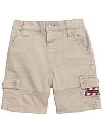 JoJo Maman Bebe Little Boys' Essential Twill Shorts Stone, Sizes 2-6