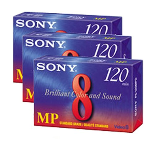Sony Camcorder Cassettes 120 Minute, 8mm (3-Pack) (Discontinued by Manufacturer) by Sony