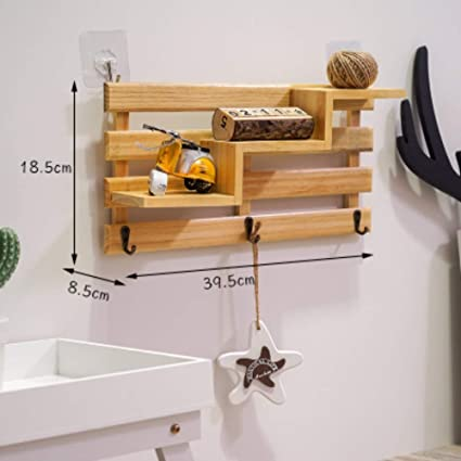 XYL HOME Perchero de Pared de Madera Maciza sin Perchero ...