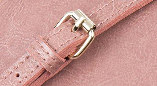 Frauen Leder Rucksack, Casual Fashion Rucksack, Kleine Quadratische Tasche Pink