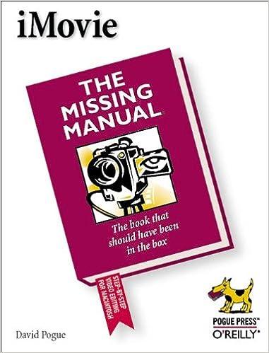 Amazon com: iMovie: The Missing Manual (0636920928591
