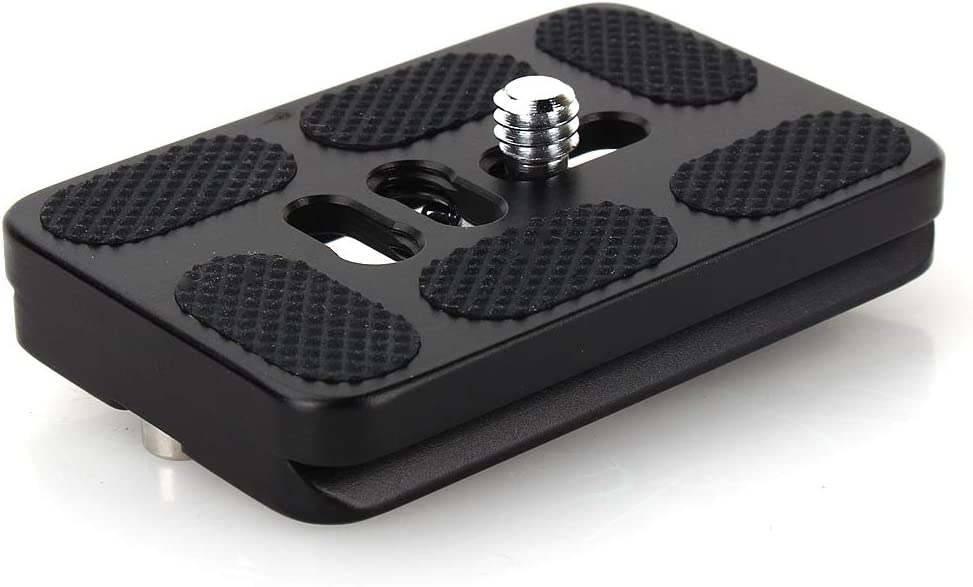 Acouto Universal Black Professional Quick Release Plate 60mm Camera Photography Accessory