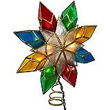 Kurt Adler 10-Light Multi-Color Capiz Star Tree Topper