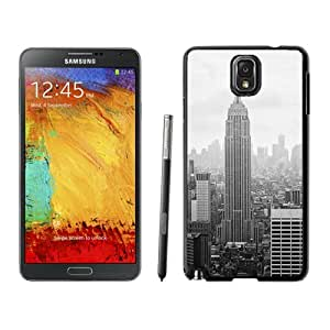 Beautiful Unique Designed Samsung Galaxy Note 3 N900A N900V N900P N900T Phone Case With New York City Empire State Building_Black Phone Case