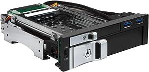 "Kingwin SSD/HDD 2.5"" & 3.5"" w/ USB 3.0 Hub Hot Swap Mobile Rack, Internal Tray-Less SATA Hard Drive Backplane Enclosure, Support SATA I/II/III & SAS I/II 6Gbps and [Optimized for 2.5""&3.5"" SSD/HDD]"