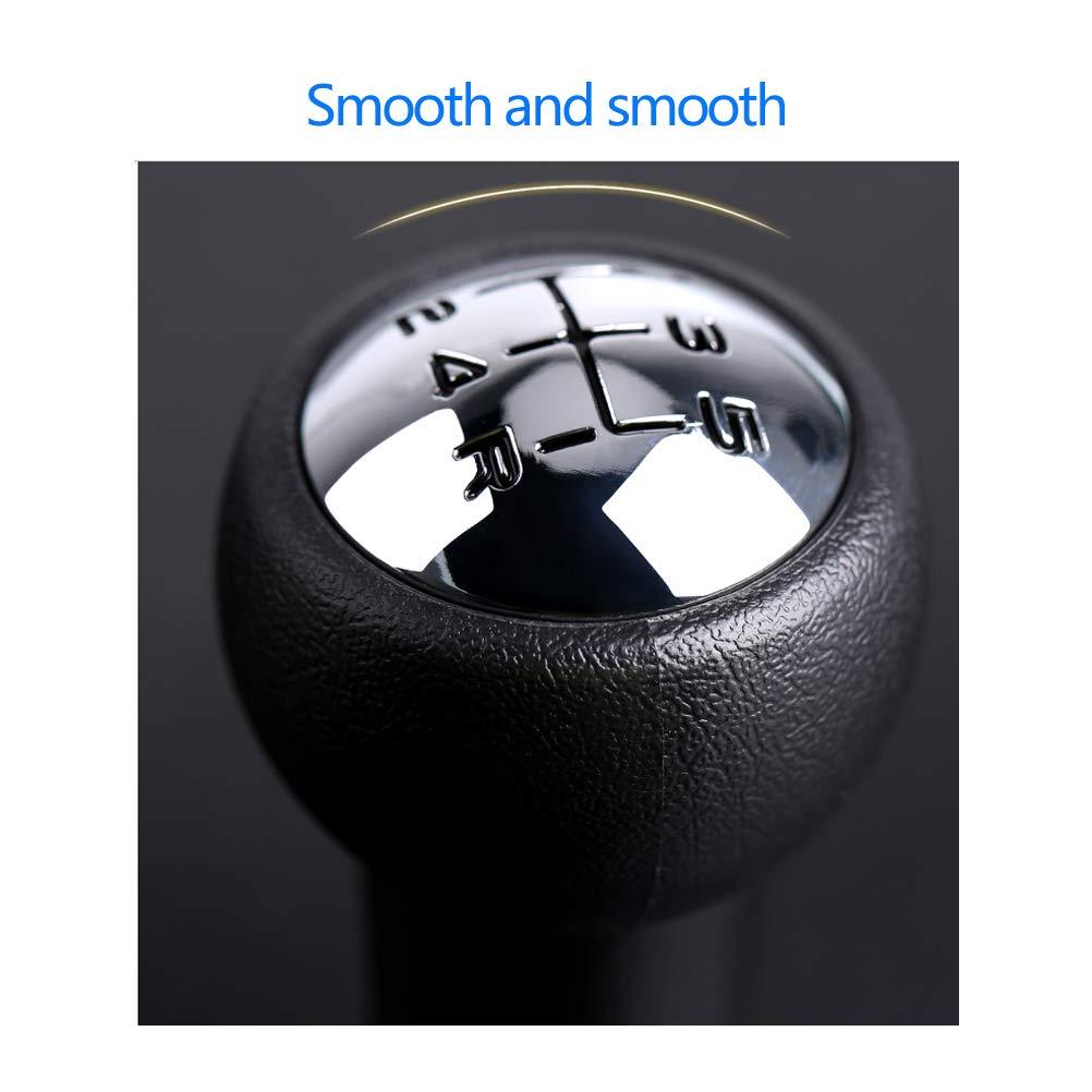 QLOUNI 5-Speed Manual Stick Shift Knob Manual Stick Shifter Gear Knob Stick Shift Head for 106 107 205 206 207 306 406 408 C2 C3 C4 Car Manual Gear Stick Shift Knob