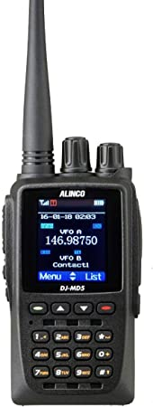 Alinco DJ-MD5TGP Dual Band DMR VHF UHF HT Part 90 with GPS Transceiver