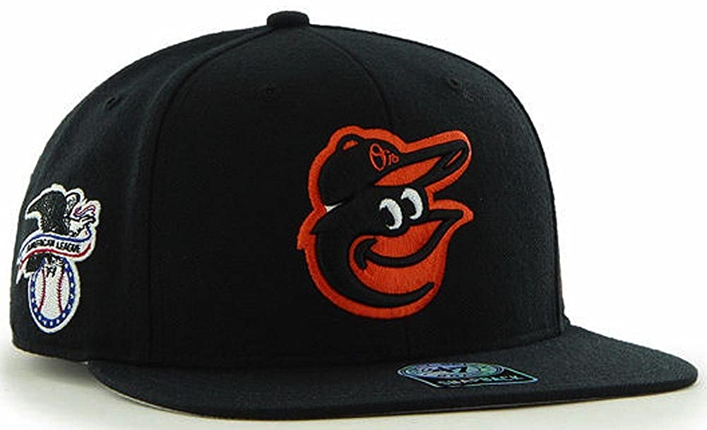 Amazon.com   47 Forty Seven Brand Baltimore Orioles Black Sure Shot Snapback  Cap Limited  Clothing 60c3f6da7e5