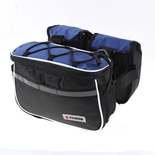 sourcingmap® Multifunction Fahrrad Motorrad Vorderseite Rahmentasche Pannier Korbtasche