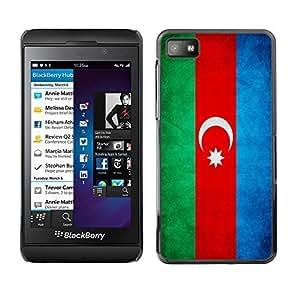 Shell-Star ( National Flag Series-Azerbaijan ) Snap On Hard Protective Case For BackBerry Z10