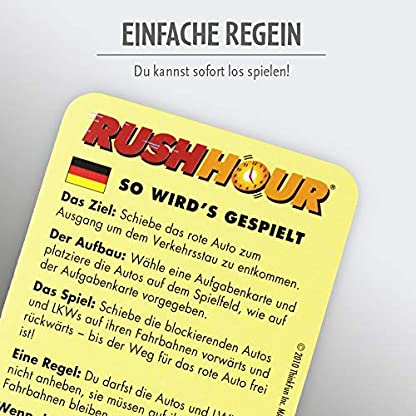 ThinkFun Rush Hour, Logik- und Strategiespiel, für Kinder und Erwachsene, Brettspiel ab 1 Spieler, ab 8 Jahren 6