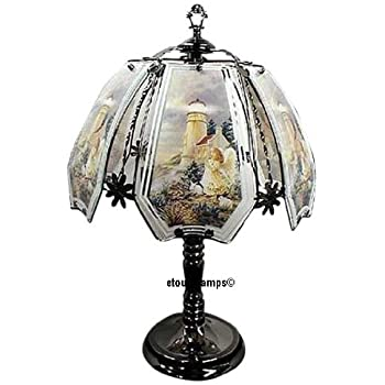 angel lighthouse touch lamp with polished brass base. Black Bedroom Furniture Sets. Home Design Ideas